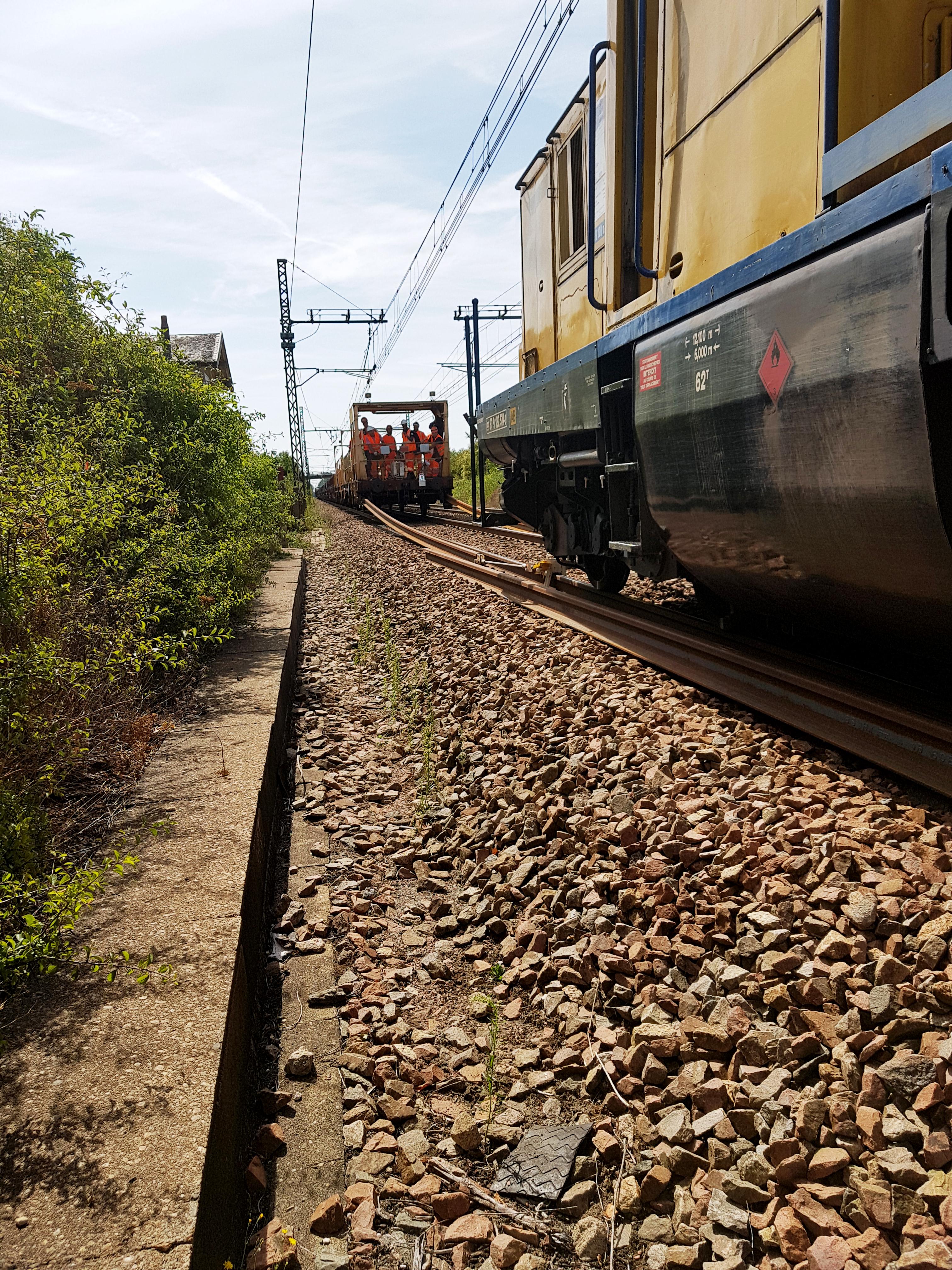 équipes Aquitaine Rail à Poitiers