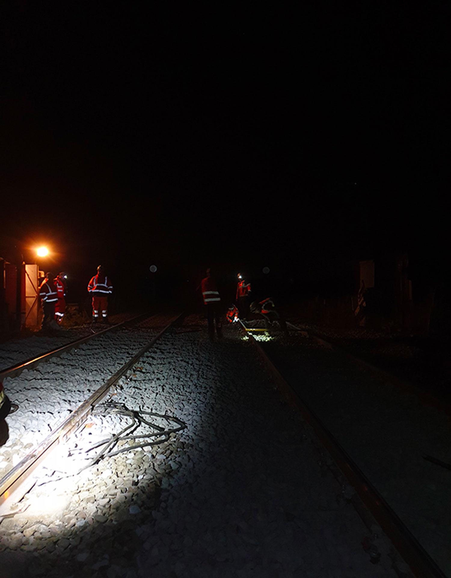 travaux pour la SNCF de nuit
